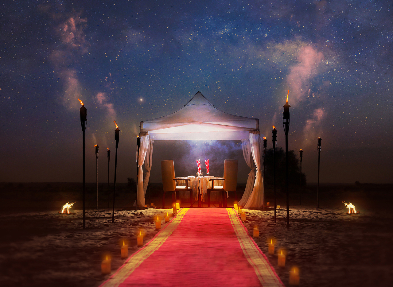Bab Al Shams Desert Resort Spa Romantic Valentine S Dinner At Sunset Point Promo Promolover