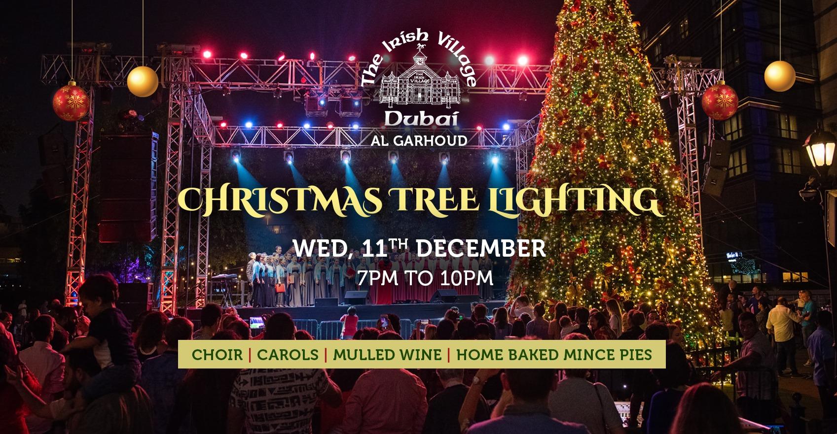 The Irish Village Garhoud Christmas Tree Lighting 2019 Promo Promolover