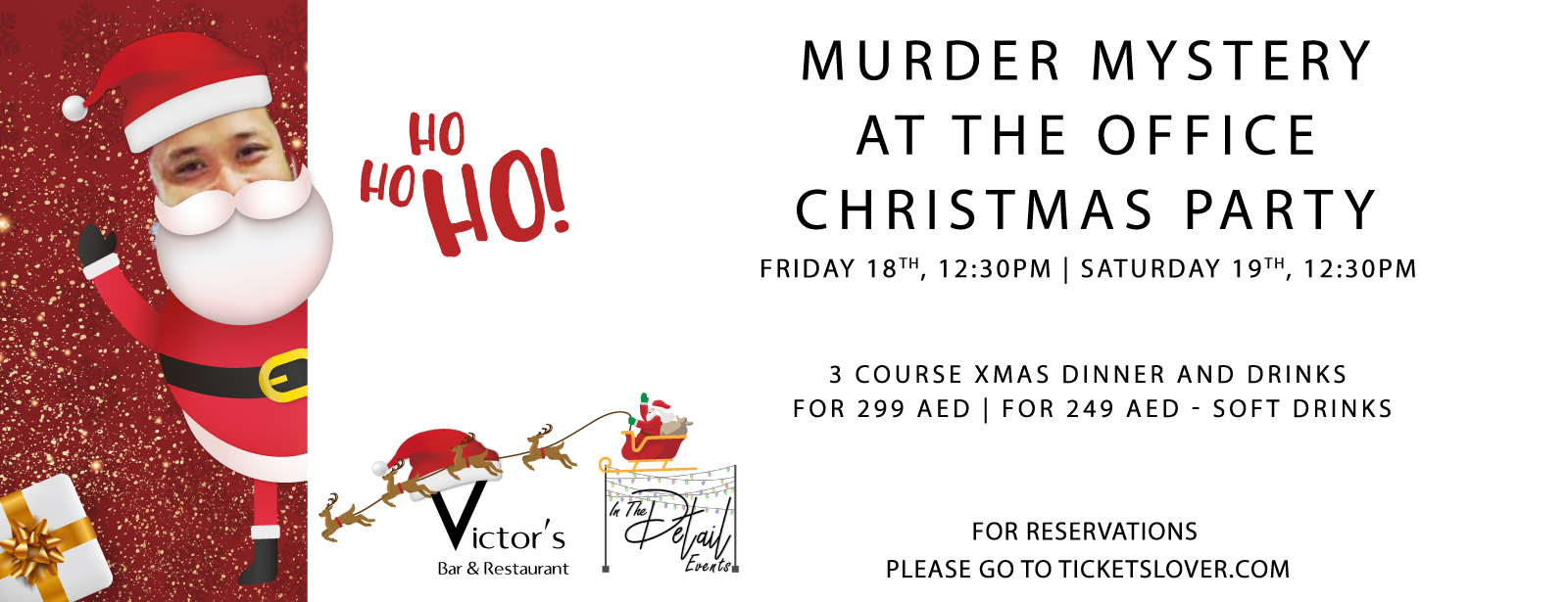 Murder Mystery at the Office Christmas Party Brunch