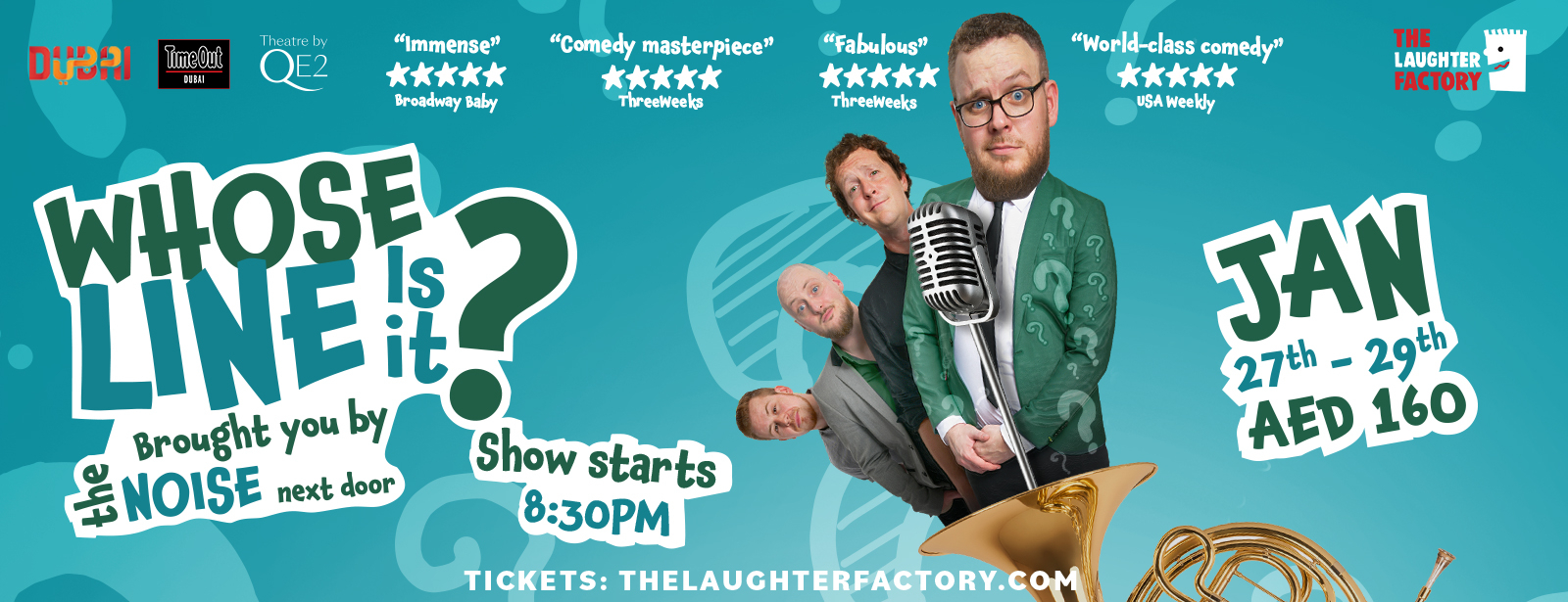Whose Line Is It? Brought To You By The Noise Next Door - MOVENPICK JBR Show - RESCHEDULED DATE