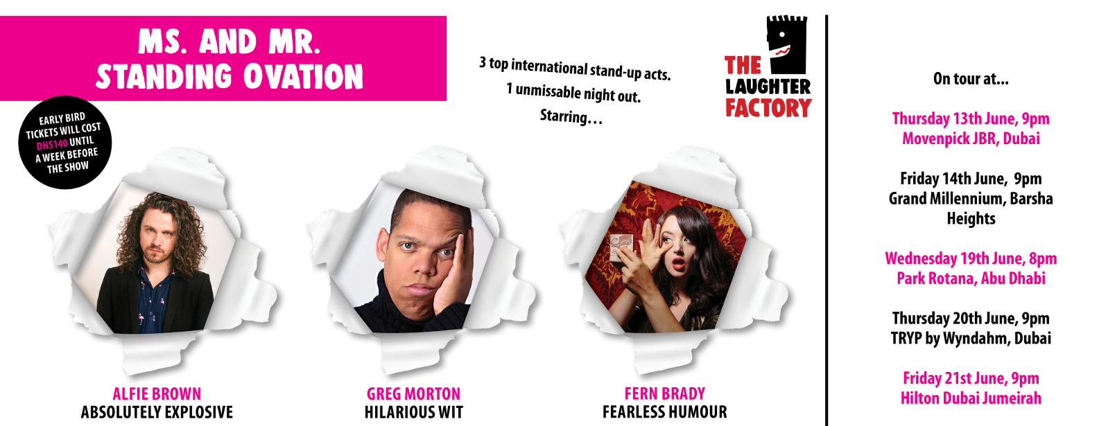 The Laughter Factory June 2019 w/ Alfie Brown, Fern Brady & Greg Morton