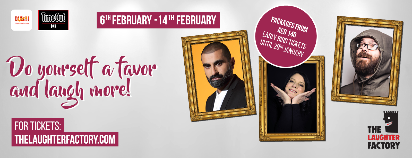 The Laughter Factory's 'Do Yourself a Favour and Laugh More! Dubai Tour - Feb 2020
