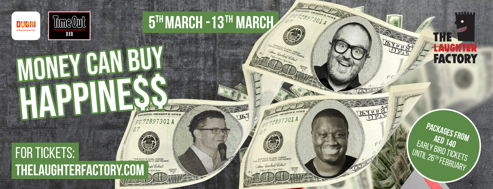 The Laughter Factory's Money CAN Buy Happiness Tour Dubai Mar 2020
