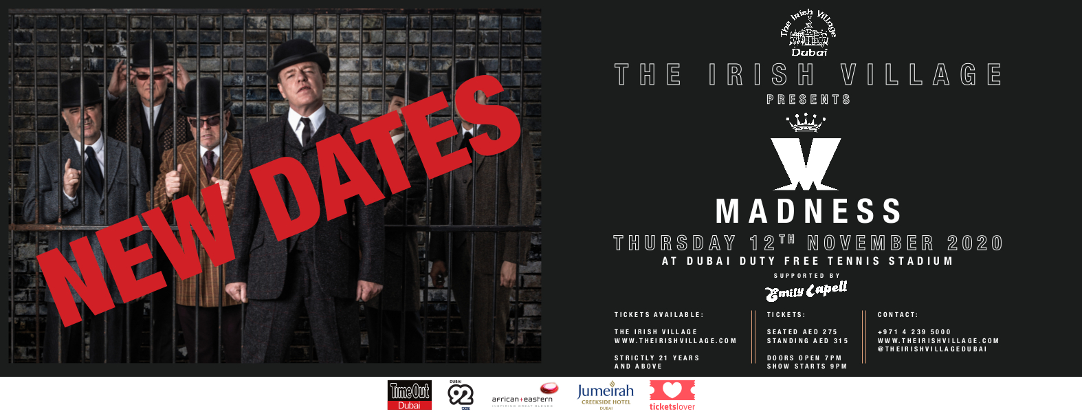 The Irish Village presents Madness Live in Dubai 2020 - NEW DATE