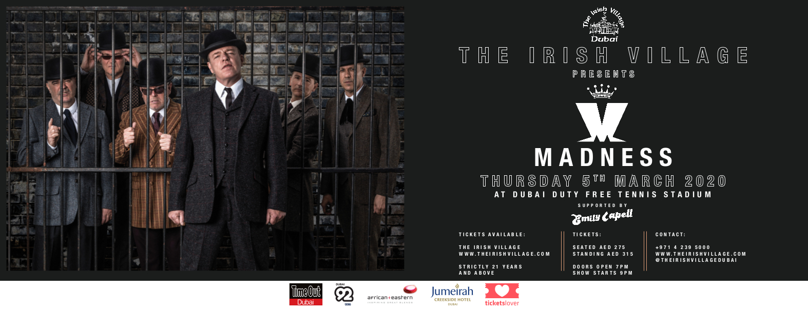 The Irish Village presents Madness Live in Dubai 2020