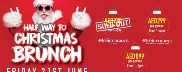 McGettigan's JLT Halfway To Christmas Brunch 2019 - SOLD OUT