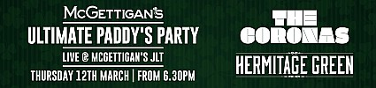 McGettigan's The Ultimate Paddy's Party 2020 w/ The Coronas, Picture This, Hermitage Green & The Academic - VENUE CHANGE
