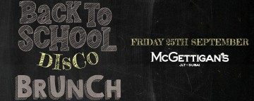 McGettigan's JLT Presents: Back To School Brunch 2020