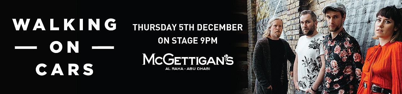 McGettigan's presents Walking on Cars Live in Abu Dhabi 2019