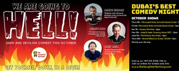 The Laughter Factory: We Are Going to Hell! feat Markus Birdman, Andrew Ryan & Carey Marx - Movenpick JBR