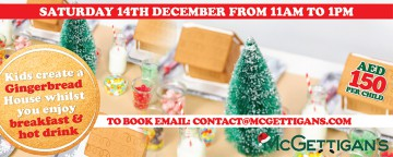 McGettigan's JLT Gingerbread House Decorating Workshop 2019 - SOLD OUT