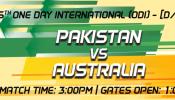 5th One Day International (ODI) Pakistan v Australia