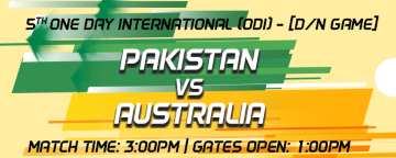 5th One Day International (ODI) Pakistan v Australia