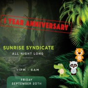 Deep Tribe 1 Year Anniversary w/ Sunrise Syndicate