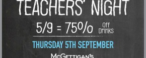 McGettigan's JLT Teachers' Night 2019