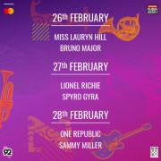 Mastercard Presents The Emirates Airline Dubai Jazz Festival 2020 w/ Ms. Lauryn Hill, Lionel Richie & OneRepublic