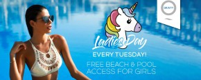 Zero Gravity Ladies Day with Free Pool & Beach Access