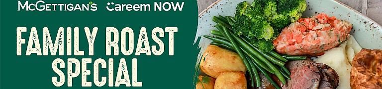 McGettigan's JLT Family Roast Delivery Special