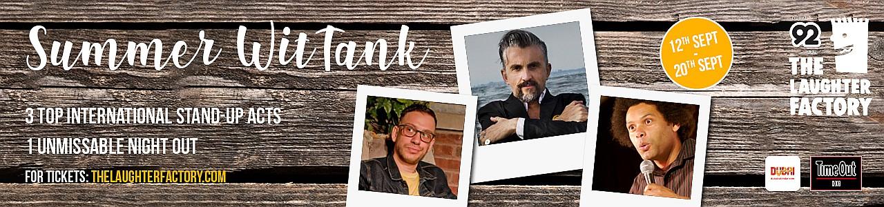 The Laughter Factory 'Summer, WitTank' September 2019 w/ Pat Burtscher, Andy White & Markus Birdman