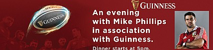 An Evening with Mike Phillips: LIONS at The Irish Village Al Garhoud - 2nd Test