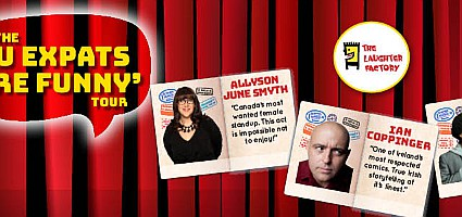The Laughter Factory: U Expats are Funny Tour starring Allyson June Smyth, Ian Coppinger & Prince Abdi - Radisson Blu Ajman