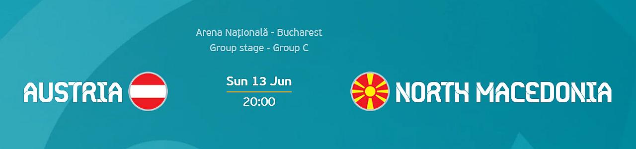 Euro 2020: Austria vs North Macedonia