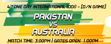 4th One Day International (ODI) Pakistan v Australia
