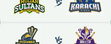 PSL 2018: Multan Sultans v Karachi Kings & Peshawar Zalmi v Quetta Gladiators - 10 Mar