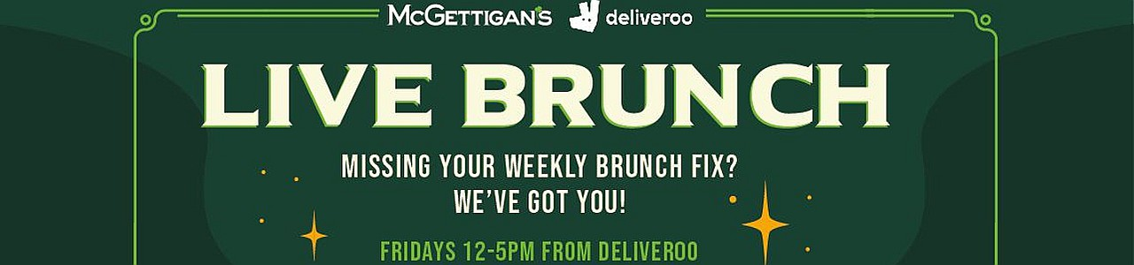 McGettigan's Friday Live Brunch Home Delivery