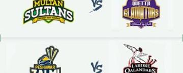 PSL 2018: Multan Sultans v Quetta Gladiators & Peshawar Zalmi v Lahore Qalandars - 3 Mar