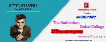 FacingLites Events presents Comedy Fest: Atul Khatri Live in Dubai