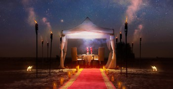Bab Al Shams Desert Resort & Spa Romantic Valentine's Dinner at Sunset Point