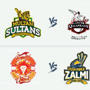 PSL 2019: Multan Sultans v Lahore Qalandars & Islamabad United v Peshawar Zalmi - 22 Feb