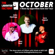 The Laughter Factory's 'I Think my Algorithms Hate me!' Tour Oct 2021