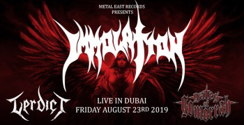 Immolation Live in Dubai 2019
