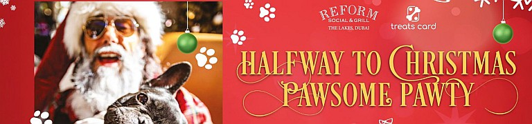 Reform Social & Grill Halfway to Christmas Pawsome Pawty