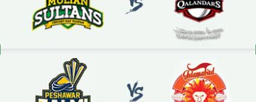 PSL 2018: Multan Sultans v Lahore Qalandars & Peshawar Zalmi v Islamabad United - 9 Mar