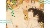 Paint & Grape: Mother and Child by Gustav Klimt